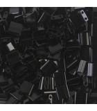 TILA BEADS 5x5x2 MM 2 AGUJEROS 5 GRAMOS OPACOS A : MIYUKI ROCALLA:401 BLACK
