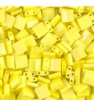 TILA BEADS 5x5x2 MM 5 GR 2 HOLES OPAQUE FROSTED 2