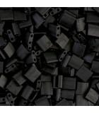 TILA BEADS 5x5x2 MM 2 AGUJEROS 5 GRAMOS OPACO MATE : MIYUKI ROCALLA:401F MATTE BLACK