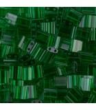 TILA BEADS 5x5x2 MM 2 AGUJEROS 5 GRAMOS TRANS : MIYUKI ROCALLA:146 TRANS GREEN
