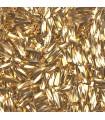 CANUTILLO RETORCIDO MIYUKI 6x2mm GOLD 24 KT 1gramo