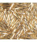 CANUTILLO RETORCIDO MIYUKI 12x2mm S.L.-1  10 GR : MIYUKI ROCALLA:3 S.L. GOLD