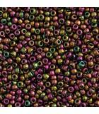 GRANITO TOHO 11/0 HIGHER METALLIC-1 6 GR APROX : TOHO:509 HM PURP GREEN IR