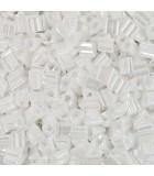 TRIÁNGULOS TOHO 11/0(2,2 mm) OPACOS LUSTER-1 25 GR : TOHO:121 OP LUST WHITE