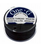 HILO ONE G DE TOHO 0,25 MM 46 METROS : COLORES C LON:Black