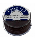 HILO ONE G DE TOHO 0,25 MM 46 METROS : COLORES C LON:Brown