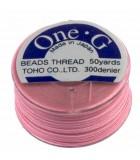 HILO ONE G DE TOHO 0,25 MM 46 METROS : COLORES C LON:Pink
