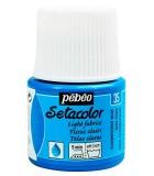 SETACOLOR PEBEO FLUORESECENTE 45 ML. PINTURA TELA : color:35 Azul Fluo