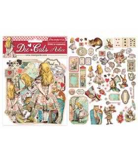 DIE CUTS STAMPERIA ALICIA 62 UNIDADES