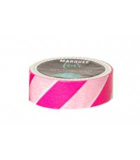 MARQUEE TAPE 2,2 cm x 2,74 M RAYAS ROSA
