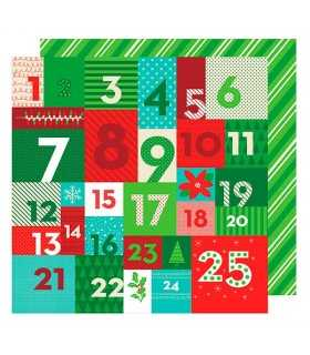 "PAPEL ADVENT ADVIENTO  AM. CRAFTS 12""x12"" 1 UD"