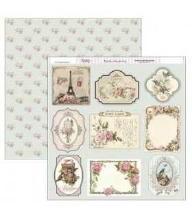 PAPEL SCRAP DAYKA 2 CARAS 30,5x30,5 CM TAGS