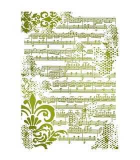 PLANTILLA STAMPERIA 21x29,7 CM PARTITURA MUSICAL
