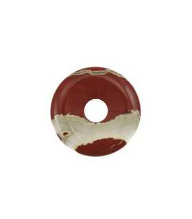DONUT JASPE ROJO NATURAL 40 MM