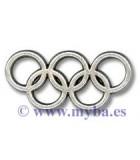 Aros olímpicos metal ZAMAK 13x25x2 MM 2 UD : Acabado:Baño Plata Antigua