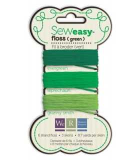 SEW EASY FLOSS HILO BORDAR MIX VERDE 3x8 M WRMK