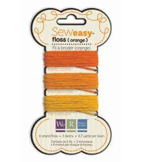 SEW EASY FLOSS HILO BORDAR MIX NARANJA 3x8 M WRMK