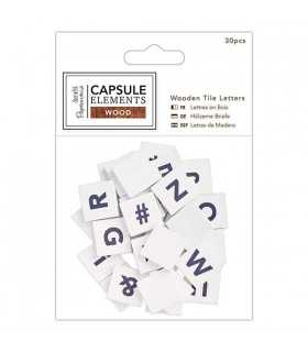 LETRAS MADERA CAPSULE ELEMENTS WOOD 30 UD