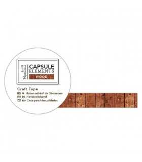 CINTA ADHESIVA CAPSULE ELEMENTS WOOD 15 MMx 3 M