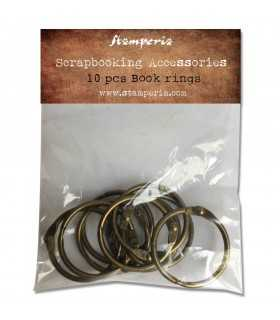 ANILLAS COLOR BRONCE STAMPERIA 3 CM 10 UNIDADES