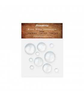 BIG BUBBLES CABUCHONES CRISTAL MIX 10 UNIDADES