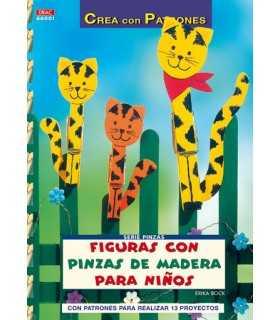 FIGURAS CON PINZAS DE MADERA PARA NIÑOS. EL DRAC