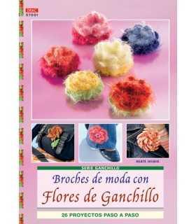 BROCHES DE MODA CON FLORES DE GANCHILLO EL DRAC