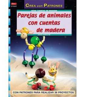 PAREJAS DE ANIMALES CON CUENTAS DE MADERA. EL DRAC