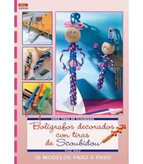 BOLÍGRAFOS DECORADOS CON TIRAS DE SCOUBIDOU. DRAC