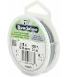 ACERO RECUBIERTO BEADALON 0,38 MM SATIN 31 M : color:Plateado