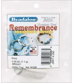 ANILLO ACERO MEMORIA 0,62 MM BEADALON. 2 CM APROX.