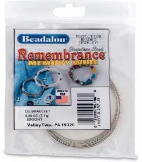 BRAZALETE GRANDE ACERO MEMORIA 0,62 MM BEADALON