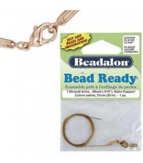 BEAD READY BEADALON 7 HEBRAS 0,38 MM 51 CM 1 UD