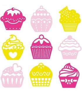 CUPCAKES FIELTRO ARTEMIO 25 MM 45 UD MIX COLORES