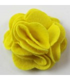 FLOR DE FIELTRO MULTI CAPAS 55 MM 2 UNIDADES : color:Amarillo