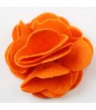 FLOR DE FIELTRO MULTI CAPAS 55 MM 2 UNIDADES : color:Naranja