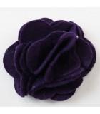 FLOR DE FIELTRO MULTI CAPAS 55 MM 2 UNIDADES : color:Púrpura