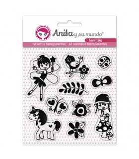 Sellos transparentes Fantasía Anita 10 unidades
