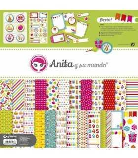 Kit papeles y accesorios scrap Fiesta! Anita