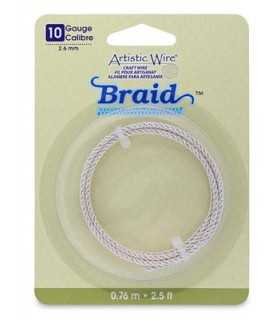 ARTISTIC WIRE BRAID 2,6 MM 0,76 M PLATA RESISTENTE