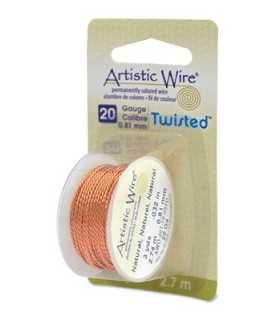ARTISTIC WIRE TWISTED  0,81 MM 2,7 M COBRE NATURAL