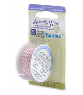 ARTISTIC WIRE TWISTED  0,81 MM 2,7 METROS ORO ROSA
