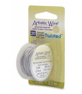 ARTISTIC WIRE TWISTED  0,81 MM 2,7 M ACERO INOX.