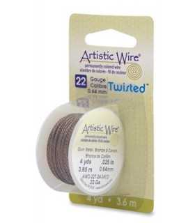 ARTISTIC WIRE TWISTED 0,64 MM 3,6 M BRONCE ANTIGUO