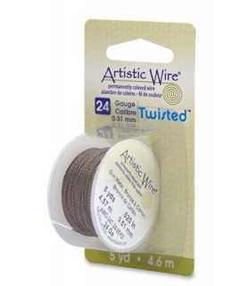 ARTISTIC WIRE TWISTED 0,51 MM 4,6 M BRONCE ANTIGUO