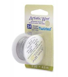 ARTISTIC WIRE TWISTED 0,51 MM 4,6 M ACERO INOX.