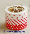 SET FABRIC TAPE DAIL. 11 RED RIBBON 15 MMx3 Mx3 UD