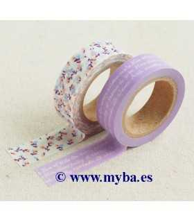 SET 2 WASHI TAPE DAILYL. 16 DEAR 15 MMx10 Mx2
