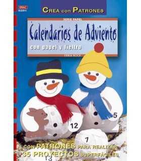 CALENDARIOS DE ADVIENTO CON PAPEL Y FIELTRO
