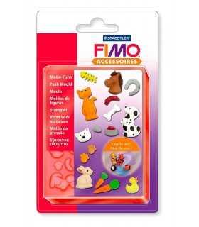 MOLDE FLEXIBLE 9x12 CM FIMO MASCOTAS